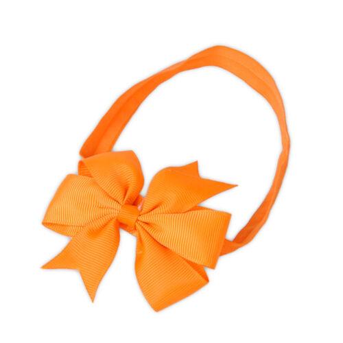 10pcs Soft Elastic Baby Girl Bow HairBand Hair Accessories Ribbon Headband.
