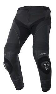 Alpinestars-Missile-Uomo-Pantaloni-di-pelle-Nero-Sportivi-Moto-Racing