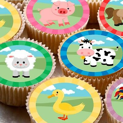 24 Edible wafer Bun Fairy cake toppers decorations pug boy red bow