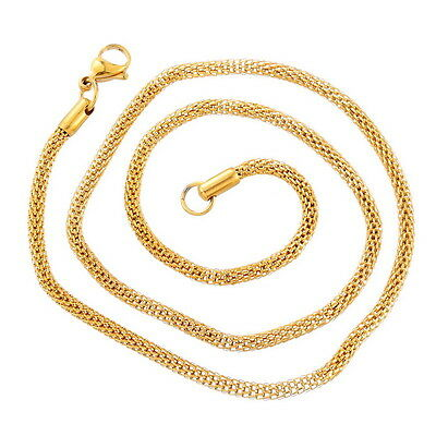Stainless Steel Snake Chain Twisted Rope Chain Foxtail Chain Necklace