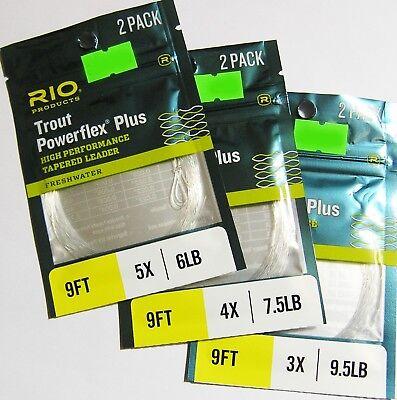 2er-Set 9/' 0,235 mm 2,75-2X Rio Vorfächer Powerflex Plus 2er-Packg