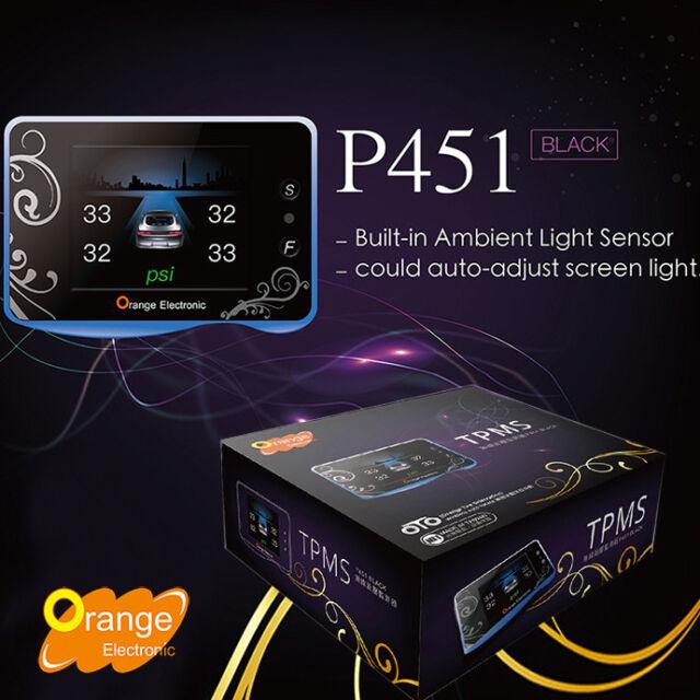 Orange P451 TPMS OTO Wireless Auto Locate Tire Pressure Monitoring System  4Wheel