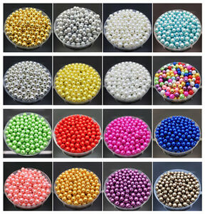 DIY-4mm-6mm-8mm-10mm-Acrylic-Round-Pearl-Spacer-Loose-Beads-Jewelry-Making-UK