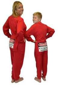 a5b25c0a8b Red Union Suit Sleeper Pajamas with Funny Rear Flap