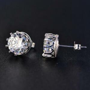 2-5Ct-Round-Cut-Moissanite-Classic-Solitaire-Stud-Earrings-14K-White-Gold-Finish