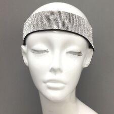 Fashionable Black Elastic Head Band Headband Clear Rhinestone Decor Strip e0d23660814