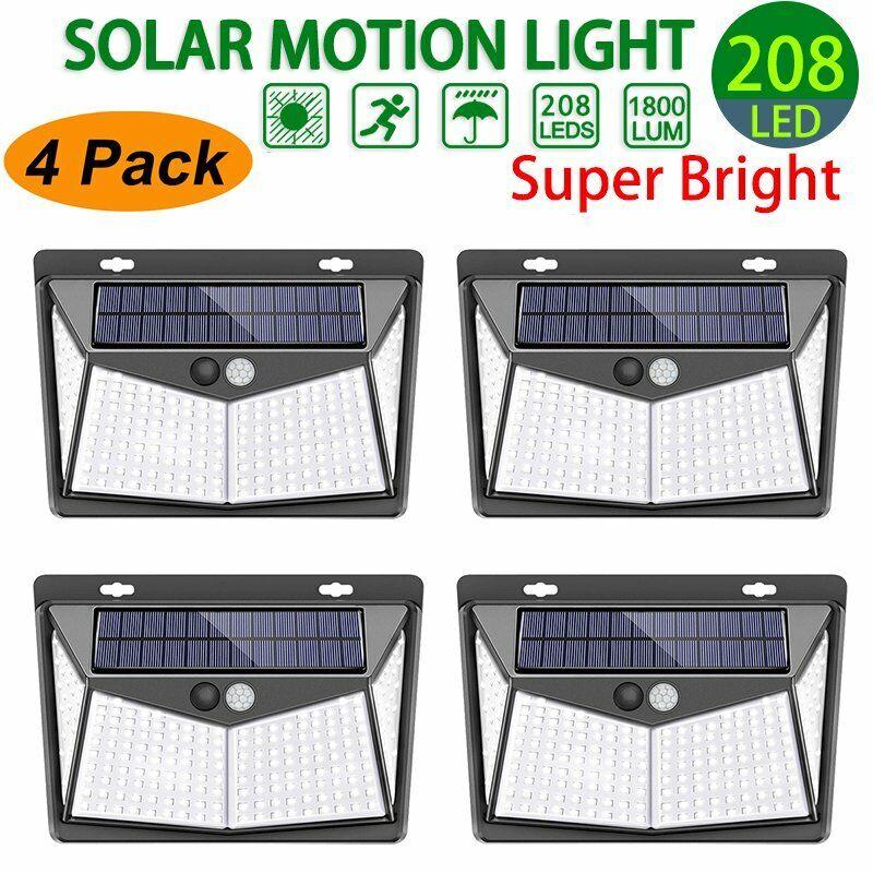 Mpow 208 LED Solar Power PIR Motion Sensor Wall Light Outdoo