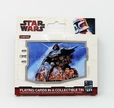 STAR WARS Empire Poker Playing Cards Collectible Tin 2 Decks 30th Anniversary