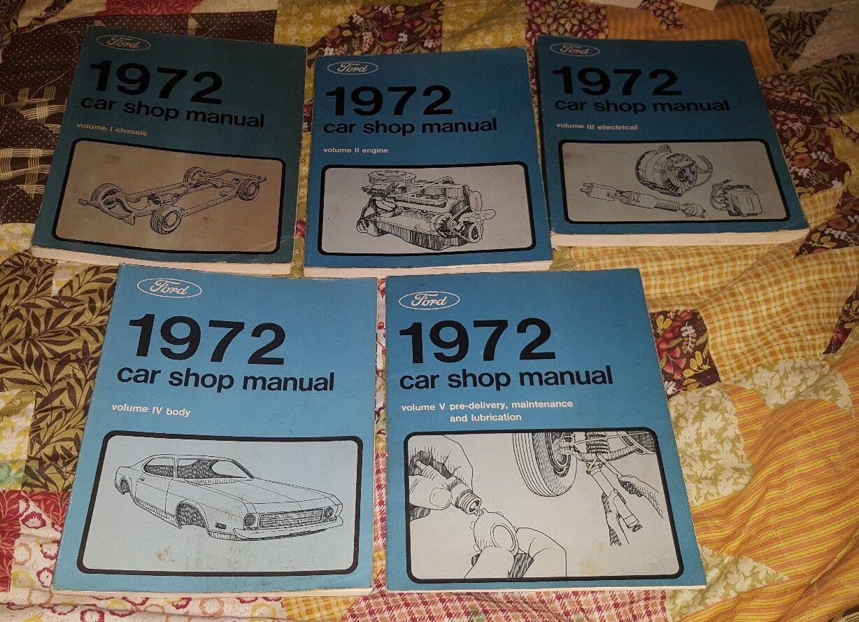 1972 FORD CAR SHOP SERVICE FACTORY MANUAL 5-VOLUME SET OEM