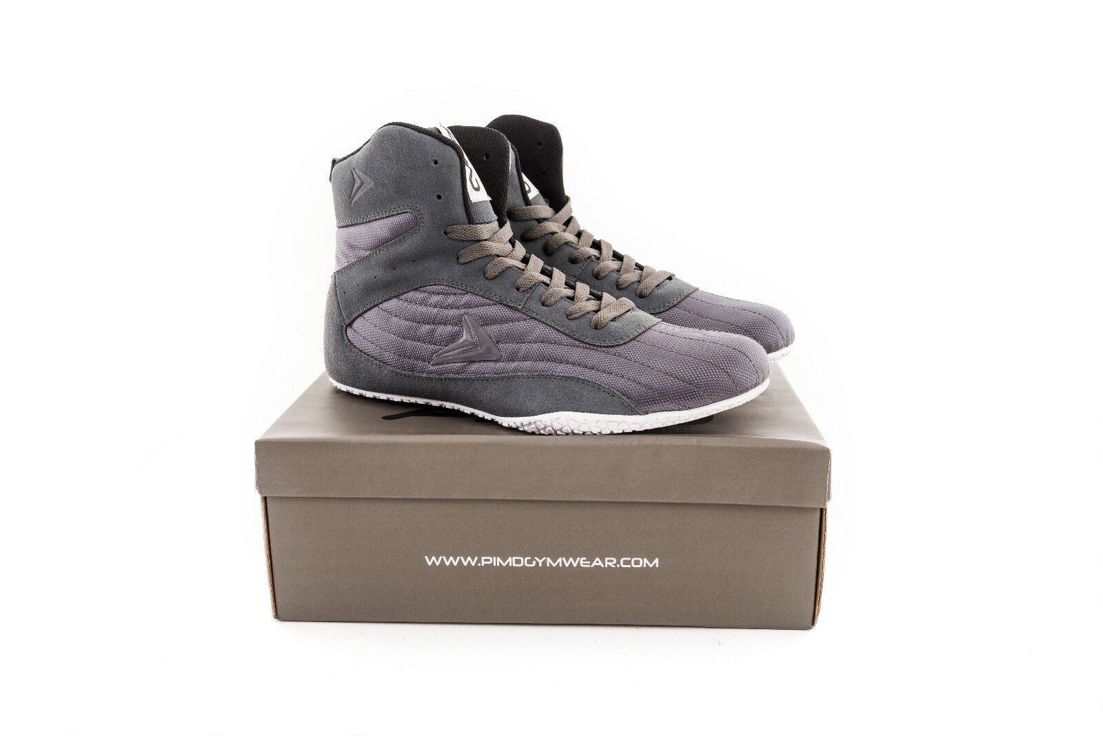 PIMD Grey X-Core V2 Gym Boots - Hightop shoes Weight Lifting Fitness Workout