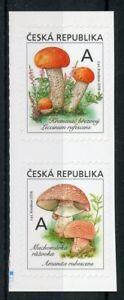 REPUBBLICA-Ceca-2018-Gomma-integra-non-linguellato-funghi-2v-S-UNA-SERIE-DI-FRANCOBOLLI-funghi
