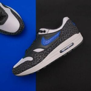 Armario Abastecer habilitar  Nike Air Max 1 Safari REFLECTIVE Atmos Pack Black Grey Blue Men's Sz US 9  Shoes | eBay