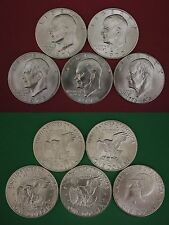 1971-1976 S 40% Silver Uncirculated Eisenhower Dollars Ikes Flat Rate Shipping