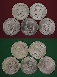 1971-1976-S-40-Silver-Uncirculated-Eisenhower-Dollars-Ikes-Flat-Rate-Shipping