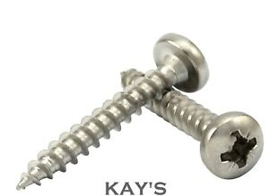 PAN HEAD POZI DRIVE A2 STAINLESS STEEL FULLY THREADED SELF TAPPING WOOD SCREWS