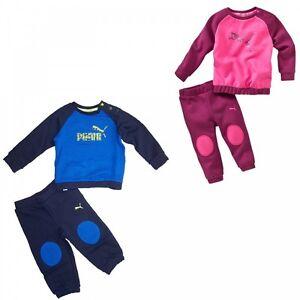 heißer verkauf billig 100% echt 100% Zufriedenheitsgarantie Details zu Puma Style MiniCat ESS Crew Baby Kinder Jogginganzug Anzug  Pullover + Hose