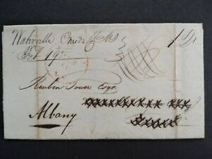 New York: Waterville 1829 Forwarded Stampless Cover, Oneida County Ms to Albany