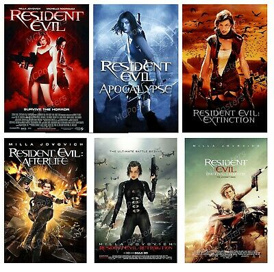 Resident Evil Final Chapter Retribution 6 Poster Canvas 11 X 17