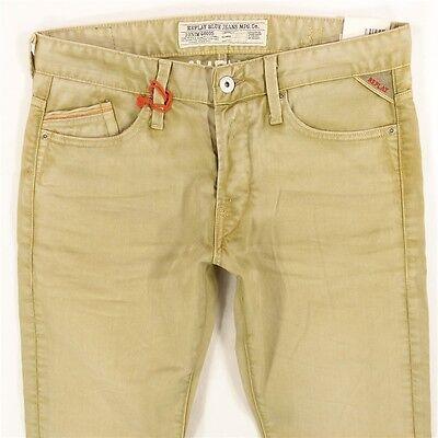 NEW Mens Replay M983 WAITOM Straight Green Jeans W31 L32 BNWT