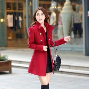 04e80f204 Details about Fashion Women Winter Korean Long Coat Jacket Windbreaker Slim  Outwear Parka