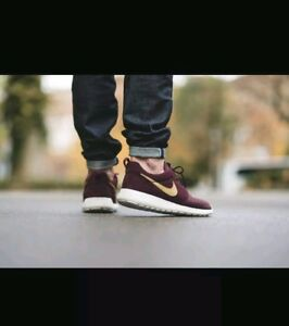 low priced 72435 ee9da Image is loading NIKE-ROSHE-ONE-SUEDE-685280-270-MAHOGANY-Mens-