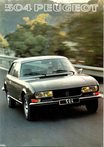 Catalogue Brochure PEUGEOT 504 Coupé Cabriolet v6
