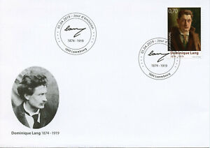 Luxembourg-2019-FDC-Dominique-Lang-100th-Memorial-1v-Cover-Art-Paintings-Stamps