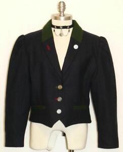 kvinder M Alphorn vinter 12 karriere 741587282426 blå ~ jakke ridetøj tysk kjole uld 42 UqSqf6wFZ