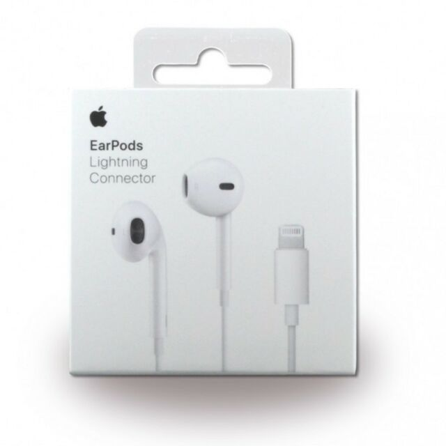 CUFFIE AURICOLARI APPLE EARPODS BLISTER ORIGINALI CONNETTORE LIGHTING IPHONE 7 8