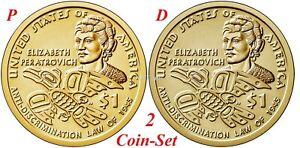 "2020 D/&P Sacagawea Native American Dollar US Coin /""BU/"" Elizabeth Peratrovich"