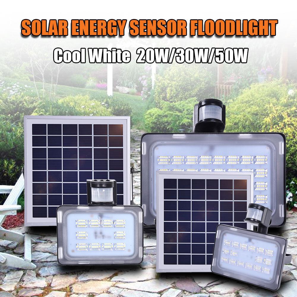 Sensor PIR energía Solar LED Luz de inundación 20W 30W 50W de jardín al aire libre de la lámpara de parojo de Reino Unido