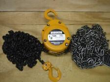 New Harrington Cf005 20 12 Ton 20 Ft Lift Manual Hand Chain Hoist Fast Ship