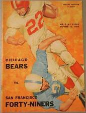 1960 Chicago Bears San Francisco 49ers Program Casares Brodie George Morris