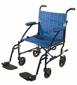 Drive medical fly lite ultra lightweight transport wheelchair dfl19 bl