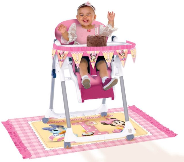 Amscan Disney Minnie Mouse High Chair Decorating Kit 1st Birthday Party 248195