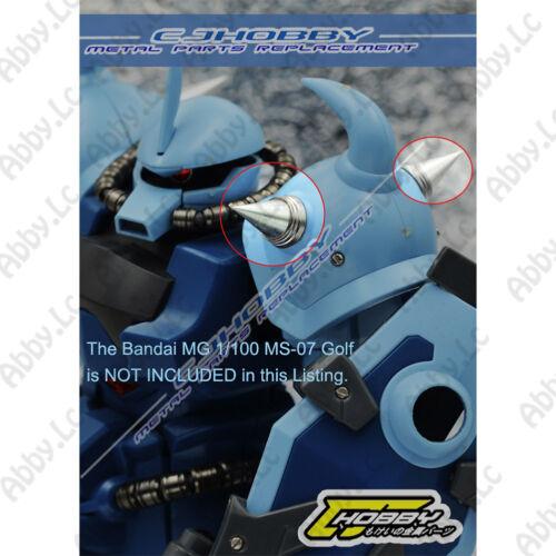 CJ 3 PCs Metal Shoulder Spines Detail Parts For MG 1//100 MS 07 Gouf Gundam Model