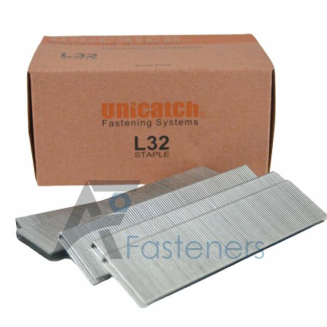 5,000//Box 1 Inch Legth Senco L Series 18 Gauge Narrow 1//4 Inch Crown Staples