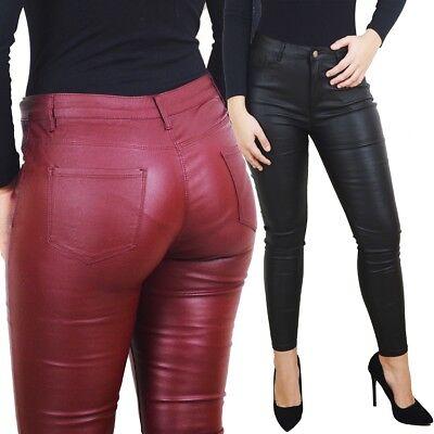 1bc1dd85045b Pantaloni donna aderenti skinny eco pelle elasticizzati push up sexy hot  nuovi | eBay