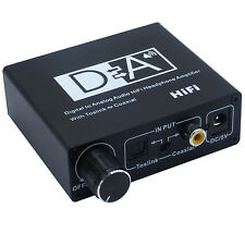 Digital to Analog Audio Converter HiFi Headphone Amplifier With Toslink