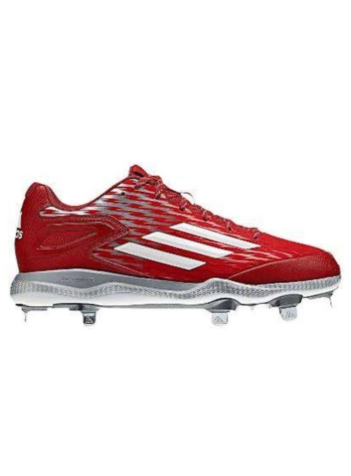 ADIDAS MEN'S POWERALLEY BASEBALL CLEATS METAL LITESTRIKE IRON SKIN ORTHOLITE ⚾️
