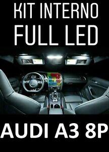 KIT LED INTERNI AUDI A3 SPORTBACK KIT COMPLETO MODELLI CON PACCHETTO LUCI 6000K