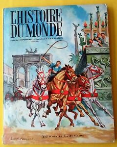 TINTIN-HERGE-L-039-HISTOIRE-DU-MONDE-TOME-2-COLLECT-TIMBRES-TINTIN-FUNCKEN-COMPLET