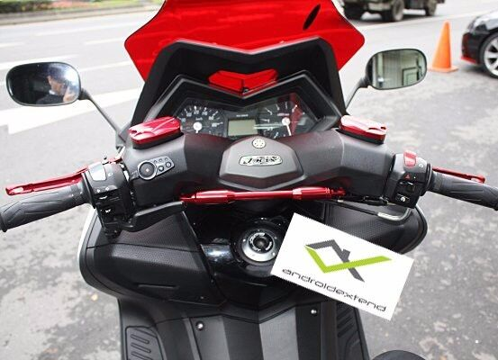 YAMAHA T-MAX 500/530 ANODIZED CNC CROSSBAR (for GPS,CELLPHONE,CUPs,Speakers..)