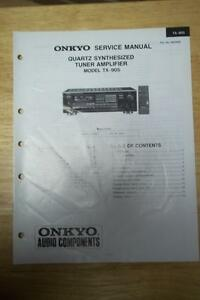 onkyo service manual for the tx 905 tuner amplifier amp receiver rh ebay com  onkyo tx-905 manual