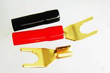 8 Speaker Spade Plug Banana Plug Crimp Audio Adapter for 4mm cable E0515A USA
