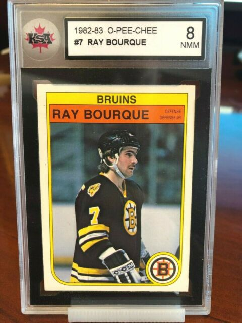 1982-83 OPC O-Pee-Chee Hockey Ray Bourque #7 KSA 8 NMM - Boston Bruins HOF