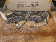 2 Duke #3 Coil Spring Traps  Beaver Fox Bobcat Coyote Wolf Trapping NEW SALE