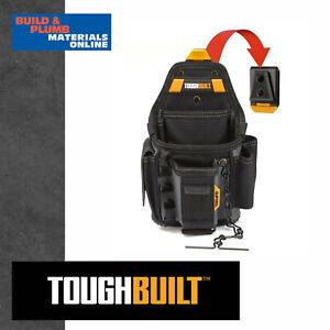Toughbuilt ClipTech Hubs 3 Pack Storage Organizer Bag Pouch Mounting Bracket Set