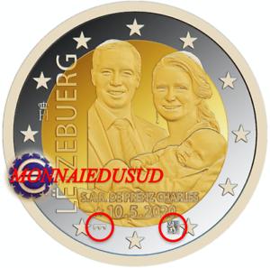 2Euro-Commemorative-Luxembourg-2020-BE-Naissance-Princiere-Relief-Pont-et-Lion