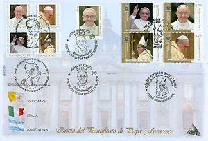 Papa Francesco I Coronation: Vatican, Italy and Argentina on 1 FDC!